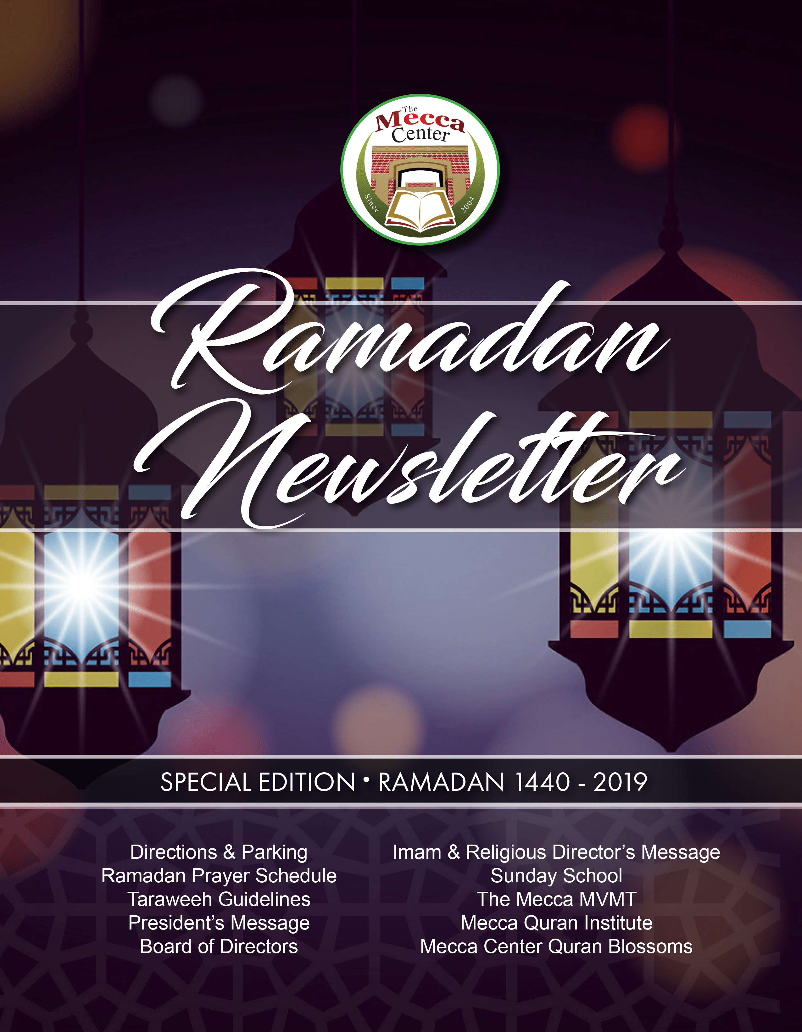 The Mecca Center: 2019 Ramadan Newsletter – Mecca Center